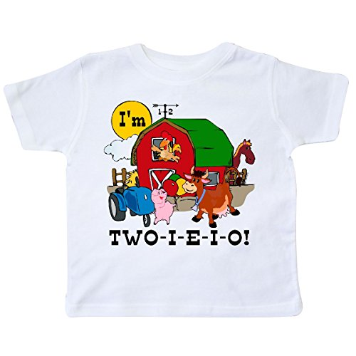 - inktastic - Two-I-E-I-O Toddler T-Shirt 3T White c918