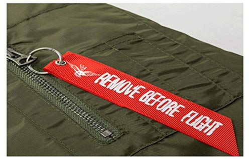 Per Uomo Air Force Abiti Comode Bomber A Vintage Flight Patch Size schwarz 3xl Badge Jacket 5 Con Classica Da Leggera color Zip Vento Taglie Giacca XqTfX