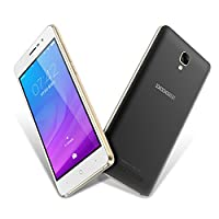 """Unlocked Cell Phones, DOOGEE X10 Dual Sim Smartphones With 5.0"""" IPS Display - Android 6.0 - 8GB ROM - 2MP+5MP Dual Camera - 3360mAh Battery - GSM Unlocked Phone International - Black(no ads)"""