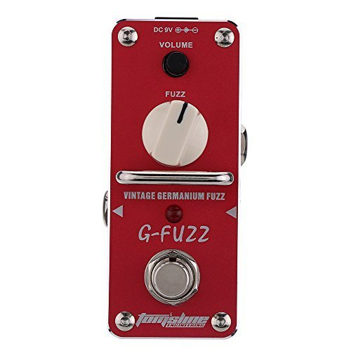 AROMA AGF-3 G-FUZZ Vintage Germanium Fuzz Guitar Effect Pedal Mini Analogue with True Bypass by Aroma