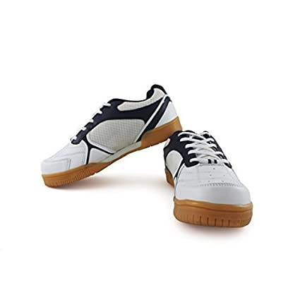 637847aa6d87 Vector X Warrior Badminton Shoes (White)  Amazon.in  Shoes   Handbags
