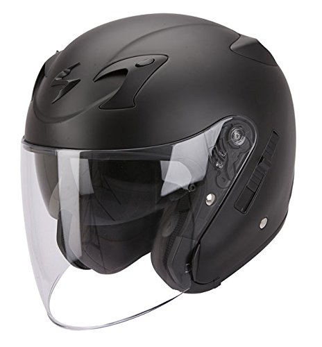 Scorpion Exo 220 Matt Black Open Face Motorcycle Helmet