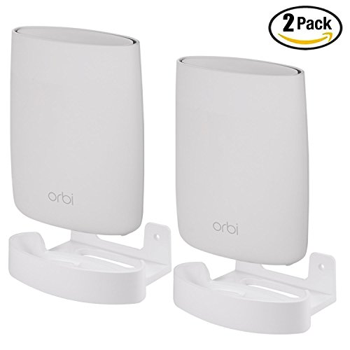 Price comparison product image For Orbi Home Wifi Wall Mount Holder by Koroao,  Wall Ceiling Bracket with Holder Set for NETGEAR ORBI AC3000 / AC2200 Tri Band Home WiFi Router (2PACK)