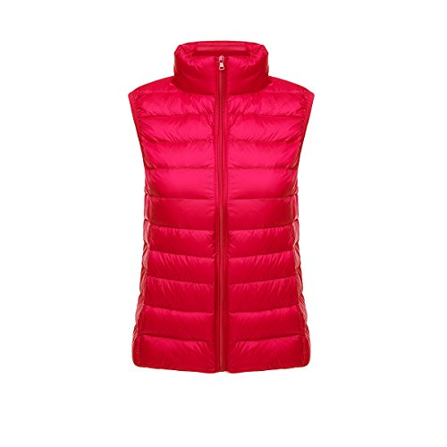 Light Chaquetas Ultra rojo Chaleco de Windproof Mujer Coat Puffer Pluma Down Ake qwHCAx