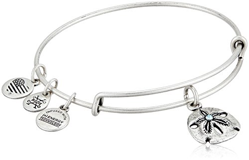 Alex and Ani Sand Dollar III Rafaelian Silver Bangle Bracelet by Alex and Ani (Image #3)