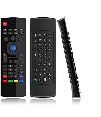 AMGUR Mini Teclado inalámbrico 2.4 G con Mando a Distancia por Infrarrojos para PC HTPC IPTV Smart TV Android TV Box Media Player