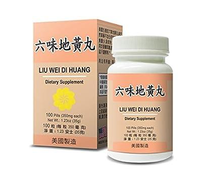 Liu Wei Di Huang :: Herbal Supplement for Dizziness, Sweating, Tinnitus :: Made in USA