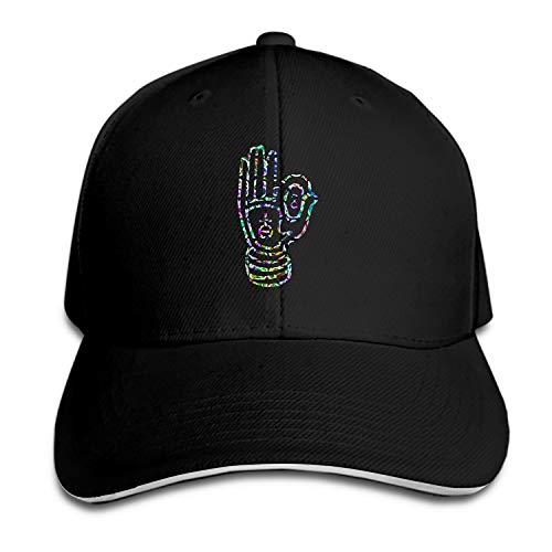 Unisex Fingered Hand Stained Glass Washed Cotton Baseball Cap Vintage Adjustable Dad -