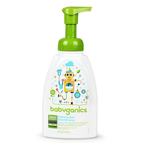 Babyganics Dish Dazzler Foaming Dish and Bottle Soap, Fragra