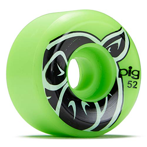 PIG Head C-Line Skateboard Wheels - Green - 52mm