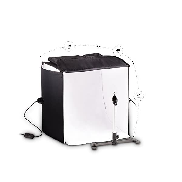 Mobile HAUSER & PICARD 200 Watt 40cm foto studio fotografico cubo luce con borsa e supporto per macchina fotografica… 3 spesavip