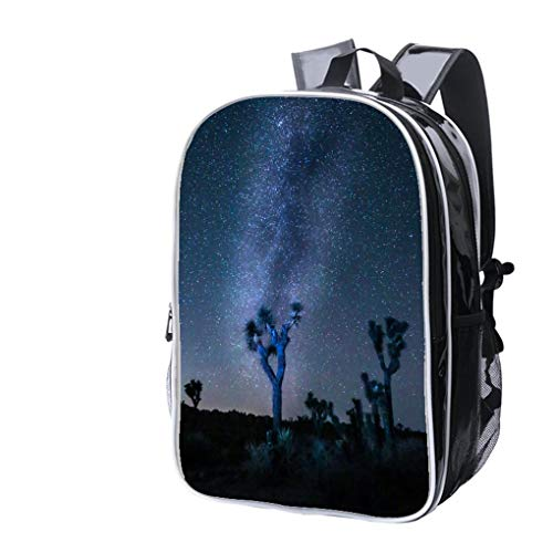 High-end Custom Laptop Backpack-Leisure Travel Backpack Joshua Tree Milky Way Water Resistant-Anti Theft - Durable -Ultralight- -