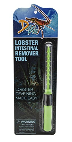 D Vein Lobster Deveiner - Simple To Use Lobster Cleaner Tool - Perfect For Divers and Lobster Lovers To Use with Lobster Crackers, Lobster Picks And Lobster Kits, Green