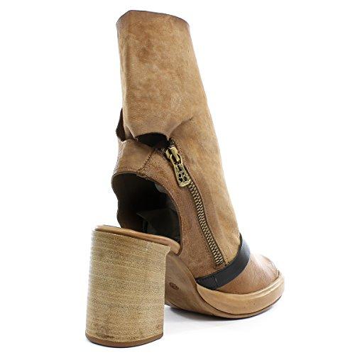 A.S.98 Zapatos Altos Fever 841004-102 Grano Nero Airstep as98 Grano/Nero