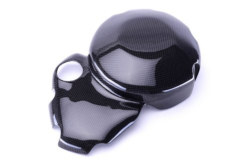 Bestem CBDU-MUL12-CLC Black Carbon Fiber Wet Clutch Cover for Ducati Multistrada 1200 Monster 796