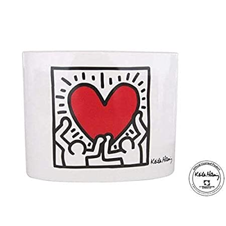 Men With Deco Keith Haring Heart Vase Amazon Kitchen Home