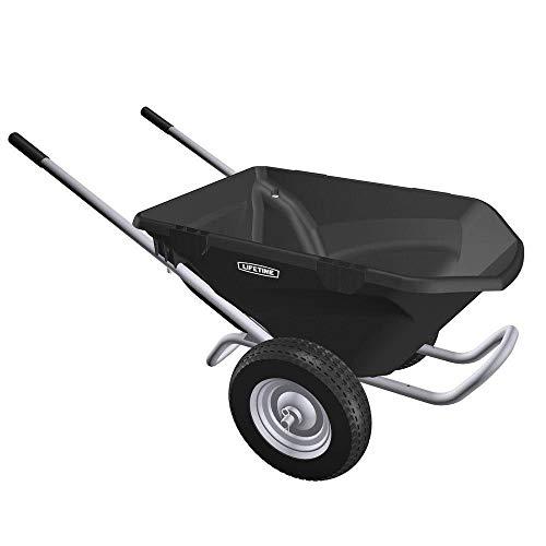 Lifetime 65034 Two Wheel Wheelbarrow, 6.5 Cubic Feet Capacity