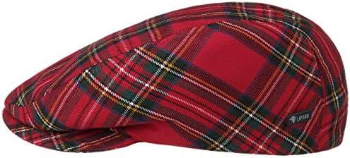 Lipodo Tartan Schottenkaro Flatcap Damen/Herren/Kinder - Schiebermütze Made in Italy - Schirmmütze Herbst/Winter - Wintermütze gefüttert - Flat Cap mit Karomuster