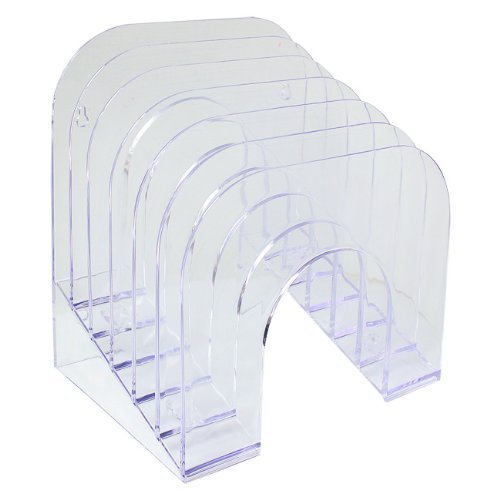 Rubbermaid : Six-Tier Jumbo Incline Sorter, Plastic, 9 3/8w x 10 1/2d x 7 3/8h, Clear -:- Sold as 2 Packs of - 1 - / - Total of 2 Each by (Rubbermaid Six Tier)