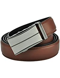 Hampton Men's Leather Belts with Innovative Contempo Ratchet Belt Buckle