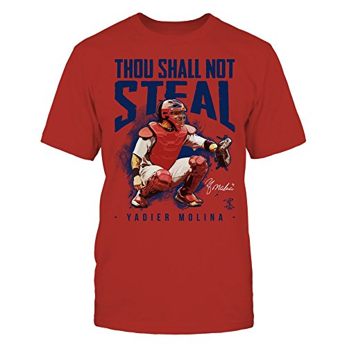 Yadier Molina Thou Shall Not Steal Red Men's Tee - for sale  Delivered anywhere in USA
