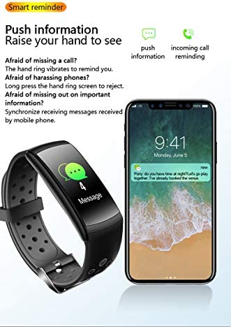 SaiYuan Smart Watch Fitness Tracker Watches for Men Women, Fitness Watch Heart Rate Monitor IP68 Waterproof Digital Watch with Step Calories Sleep Tracker, Smartwatch Compatible Android Phones 1