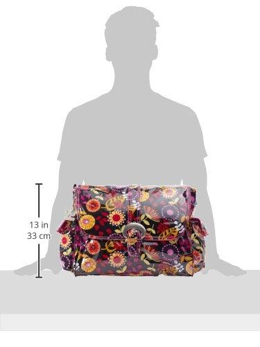 Kalencom Fashion - Bolso cambiador con accesorios, diseño de lunares, color marrón y azul Dandelion Berries