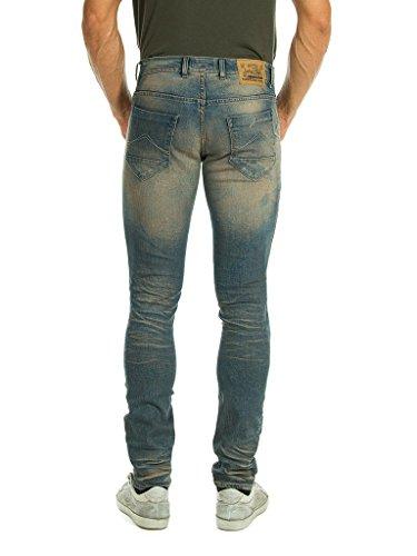 Denim Wash Uomo Per Carrera Lavaggio 718 Blu Medio Jeans Look stone FIpvvZq