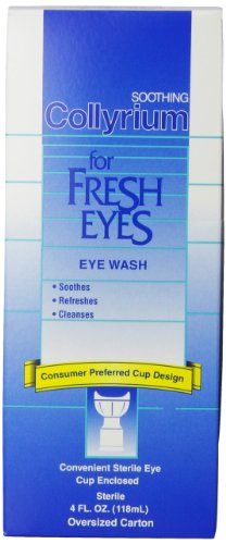 Bausch & Lomb Collyrium Eye Wash, 4-Ounce Bottles (Pack of 3)