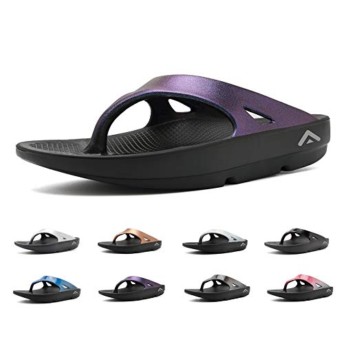 FANTURE Men & Women's Flip Flops Thong Foot Pain Relief Arch Support Sandals Recovery Ultra Soft Slippers
