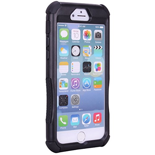 iPhone 6 Case - True Color® 3 Layers Heavy Duty Rugged Real Tree Maple Camo Hard + Soft Case Cover + Stand + Stylus + Screen Protector - Black