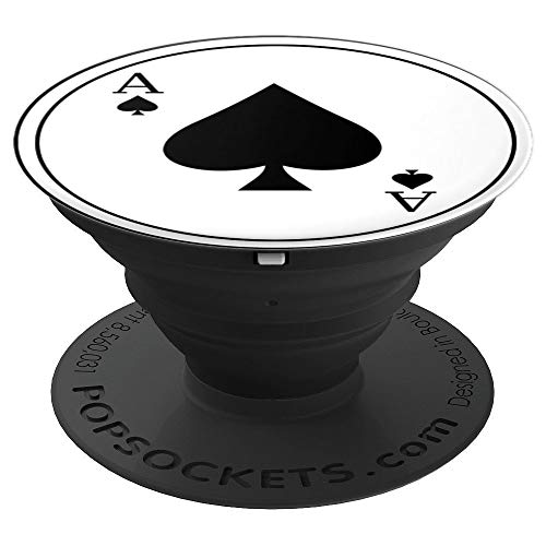 Ace Phone - Ace of Spades Playing Card Pop Grip - PopSockets Grip and Stand for Phones and Tablets