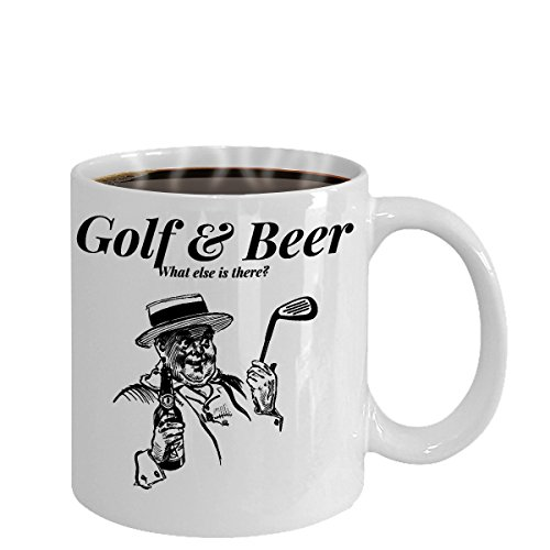 [Golf and Beer What Else Is There? White Mug With Gentleman Golfer And Beer Drinker] (Green Man Its Always Sunny Costume)