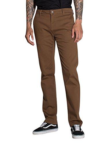 Rsq New York Slim Straight Stretch Chino Pants, Saddle, (New York Stretch Pants)