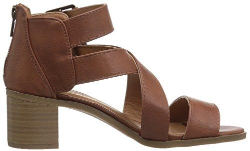 Rampage Women's Havarti Heeled Sandal, Parent, US Cognac Smooth