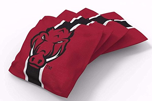 PROLINE 6x6 NCAA College Arkansas Razorbacks Cornhole Bean Bags - Stripe Design (B) ()