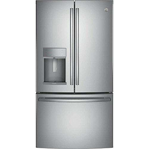 GE PFE28KSKSS Profile 27.8 Cu. Ft. Stainless Steel French Door Refrigerator - Energy Star (Steel Ge Stainless Profile Refrigerator)