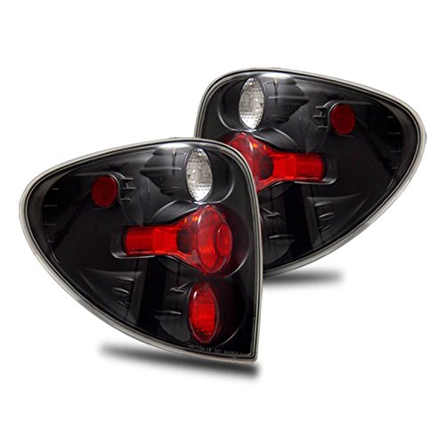 - SPPC Black Euro Tail Lights Assembly Set for Dodge Caravan - (Pair) Driver Left and Passenger Right Side Replacement
