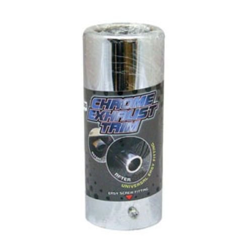 HUGE 85mm dustbin size exhaust tip trim chrome cover large tail pipe
