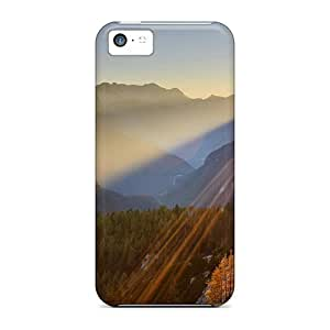For LastMemory Iphone Protective Case, High Quality For Iphone 5c Gorgeous Sunrise Skin Case Cover