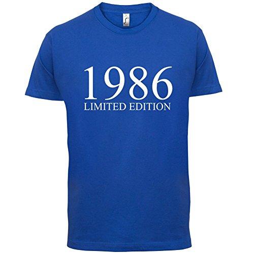 1986 Limierte Auflage / Limited Edition - 31. Geburtstag - Herren T-Shirt - Royalblau - S