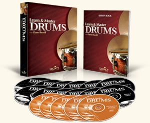 Learn And Master Drums with Dann Sherill From Legacy Learning, 12 DVDs, 5 play-along CDs and a 100+ page lesson book