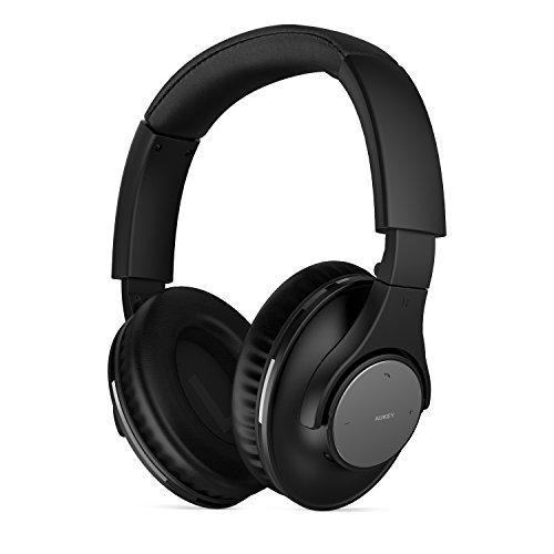 AUKEY Bluetooth Headsets Over Ear, Faltbare Drahtlose Over Ear Bluetooth Kopfhörer mit 3,5 mm Audio Buchse für iPhone, Android Smartphone, Tablet, PC und mehr (EP-B25, Schwarz)