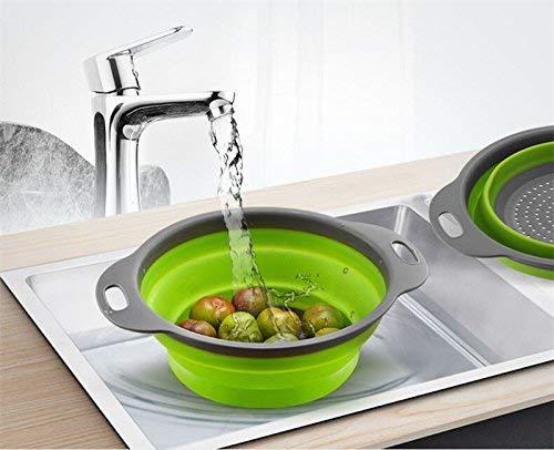 Strainer Folding Basket, Food Drainer/Fruit Washing Strainer/Vegetable wash  Basket_Silicone