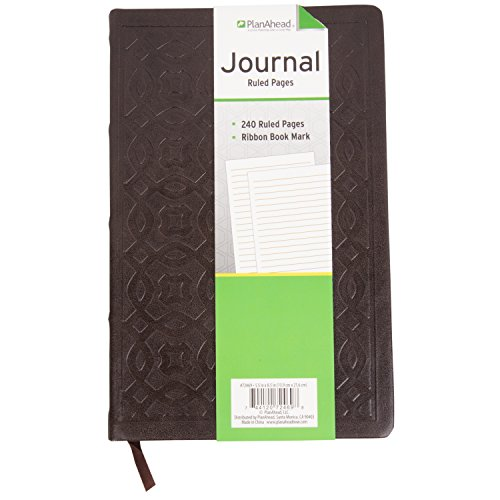PlanAhead Journal - 240 Ruled Page Journal with Ribbon Bookmark