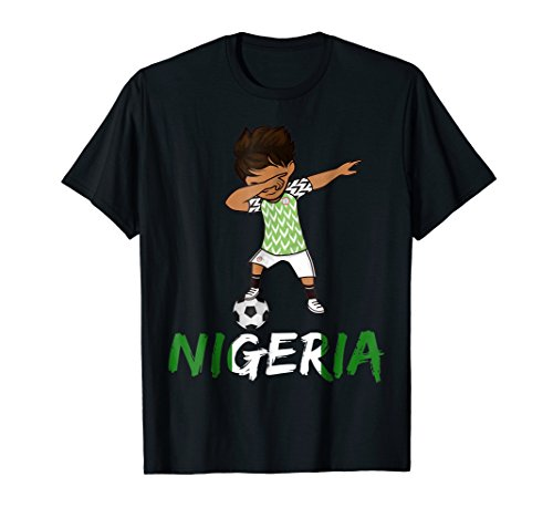 Nigeria Dabbing Shirt  World Football Cup  Soccer Jersey