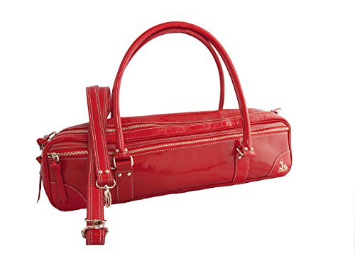 Fluterscooter Red Patent Leather Bag for Flute by Fluterscooter