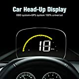XYCING Car HUD OBD2 GPS Speedometer Dual Mode for