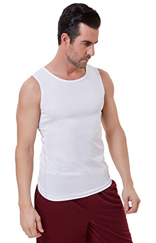 - PAUL JONES White Compression Sport Tank Top for Men Jersey Tank