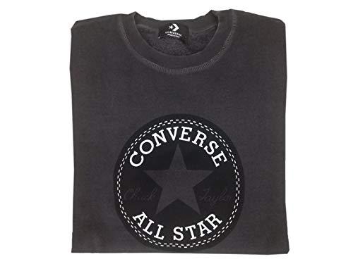 Sweat Fleece Crew 10008901 Shirt Converse Black Homme qpaft6w